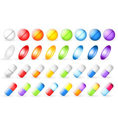 Vitamins set vector