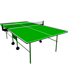 Ping pong blue table tennis vector