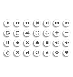 Set of audio and video symbols isolated vector