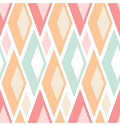 Seamless pastel triangles pattern on white vector