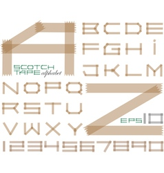 Scotch tape alphabet vector