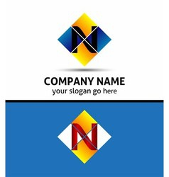 Letter n logo symbol vector