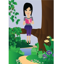 Sitting on the branches vector