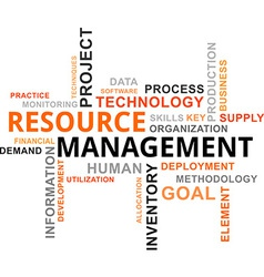 Word cloud resource management vector