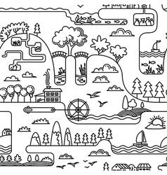 Doodle landscape vector
