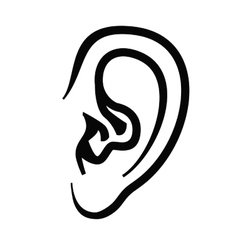 Ear icon vector