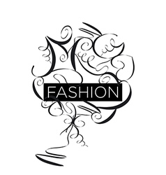 Abstract logo fashion patterns vector