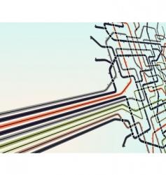 Subway network vector