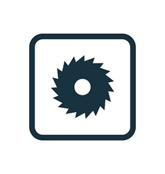 Industrial saw icon rounded squares button vector