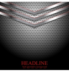 Abstract perforated metallic background with vector