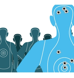 Shooting targets vector