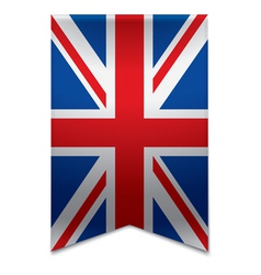 Ribbon banner - british flag vector