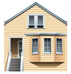 A wooden residential house vector