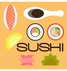 Sushi flat vector