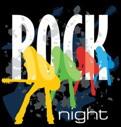 Rock night poster vector
