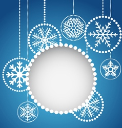 Abstract christmas balls with ornament vector