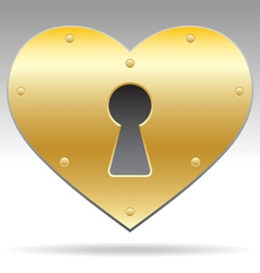 Lock shape heart object vector
