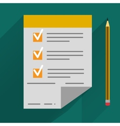 Concept in flat style - agreement and pen vector