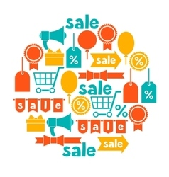 Background with sale and shopping icons design vector