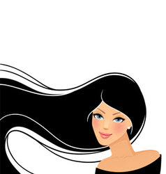 Womans hair vector
