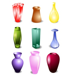 Set of vases vector