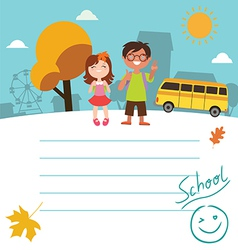 Design with kids back to school vector