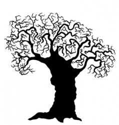 Silhouette tree vector