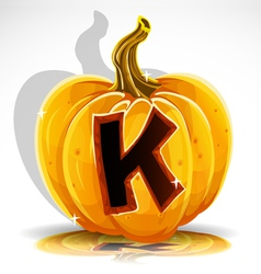 Halloween pumpkin k vector