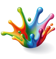Color splash vector