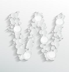 Embossed bubble w alphabet vector