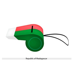 A whistle of the republic of madagascar vector