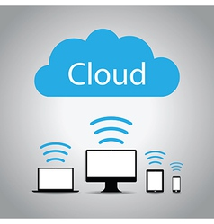 Cloud computers vector