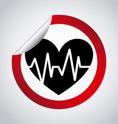 Cardiology design vector