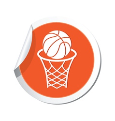 Basketball orange label vector
