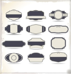 Empty vintage labels vector