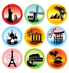 Travel landmarks vector