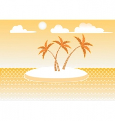 Island in the sun vector
