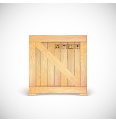 Wooden box isolated vector