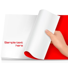 Turning page vector