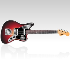Vintage electric guitar vector
