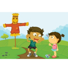 Farm kids vector