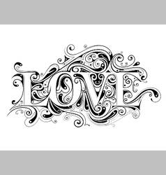 Love calligraphy vector