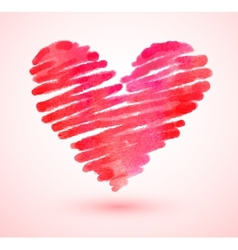 Watercolor scribble heart vector