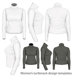 Womens turtleneck design templates vector