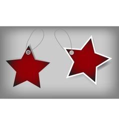 Set of christmas sale tags vector