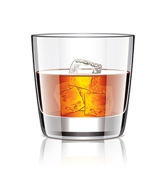 Object whiskey with ice vector