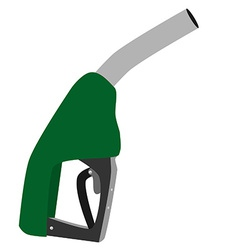Green petroleum pump vector