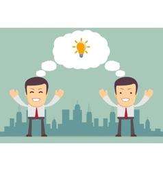 Businessmen thinking vector