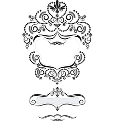 Frame in oriental style vector