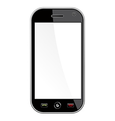 Generic smart phone isolated over white vector